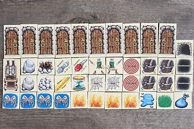 TSR 1993 Dragon Strike Board Game COMPLETE SET Replacement Cardboard Markers(43)