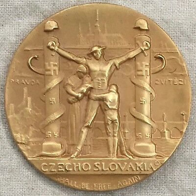 """WWII. """"Czechoslovakia Will Be Free Again"""" Medal"""