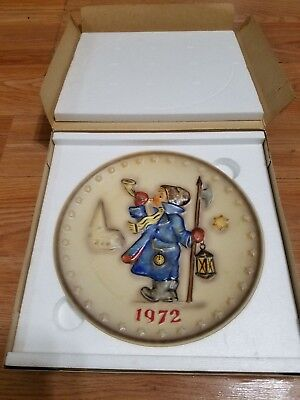Hummel 1972 Annual Collector's Plate 2nd In Series With Box...Made In Germany