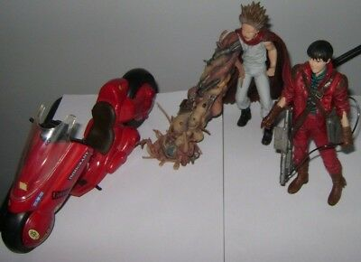 Lot of 3 Mcfarlane Toys Akira action figures 1x Kaneda, 1x Bike, 1xTetsuo w/ arm