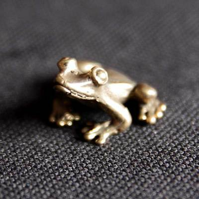 Frog miniature Figurine Statue brass Lucky animal Charm Rich Lucky Happy