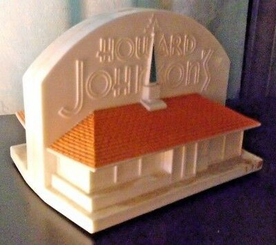 Vintage 1950s Howard Johnson's Plastic Bank Shape of Ho Jo Building  Excell Cond