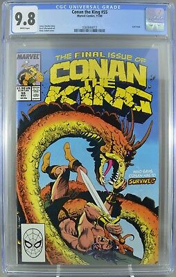 Conan The King #55 CGC 9.8 Highest CGC Graded Only 9.8 Final Issue