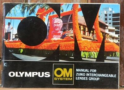 Olympus OM System Manual For Zuiko Lens Group