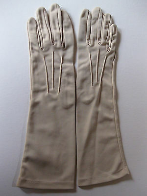 VINTAGE GLOVES by LADICAPE, Taupe, mid length, size 7