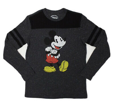 Mickey Mouse Long Sleeve (S-M-L) T-shirt DISNEYLAND Disney Speck Heather-NEW!