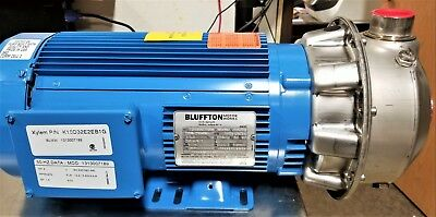 GOULDS 2ST1J5G6 Stainless Centrifugal Pump 150 GPM, 150 ft. Head, 5HP, 3PH