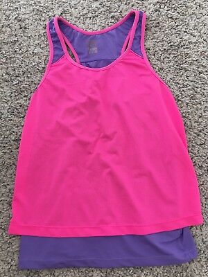 Child 9 Active Tank Top Pink And Purple