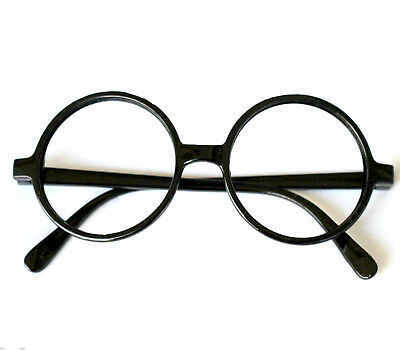 Harry Potter Glasses Frame Nerd Bookworm Dress Up Halloween Round Eye No lens