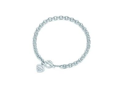 Authentic Tiffany & Co Sterling Silver Heart Toggle Necklace