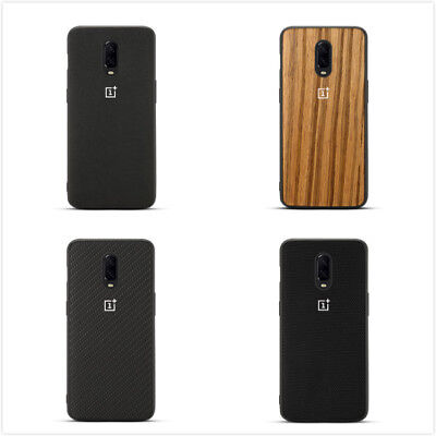 Elegant Pattern Phone Back Case Ebony Wood/Karbon Shell Cover For OnePlus 6T