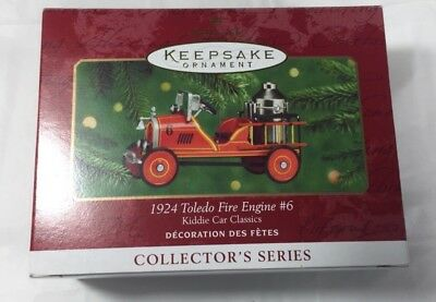 hallmark keepsake ornaments kiddie car classics 1924 Toledo fire engine #6 metal