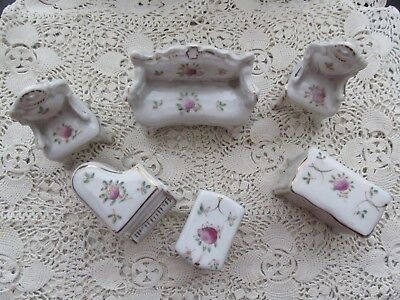 Vintage Miniature Ceramic Doll House Furniture…. Six Pieces….Made in Japan