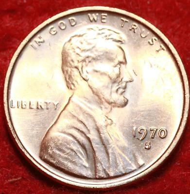 Uncirculated Small Date 1970-S Copper Lincoln Cent
