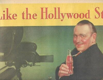 Rare 1935 Coca'cola Wallace Berry Like Hollywood Stars American Weekly In Color