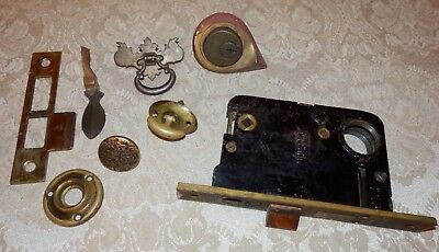 Vintage Antique RUSSWIN Russell & Erwin Lock and Misc Locks & Hardware