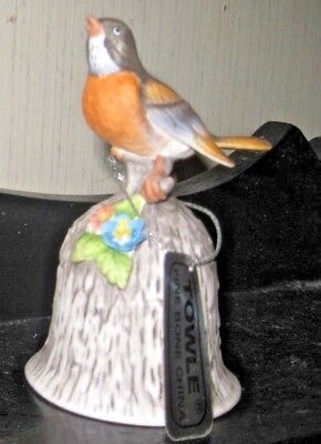 Vintage Towle Fine Bone China Robin Bell ~ Preowned With Tag