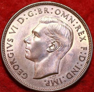 Uncirculated 1938 Great Britain Penny Foreign Coin