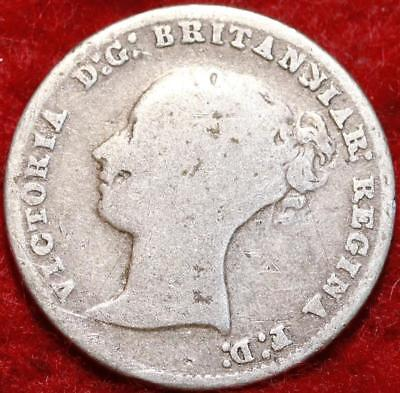 1854 Great Britain 4 Pence Silver Foreign Coin