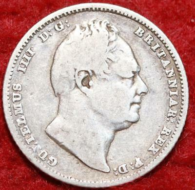 1834 Great Britain 6 Pence Silver Foreign Coin