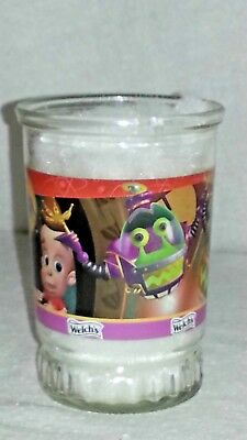 "#5 Welch's Jimmy Neutron Boy Genius ""Yokians On The Loose"" Swanky Swig Jelly Jar"