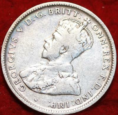 1920 Australia Shilling Silver Foreign Coin