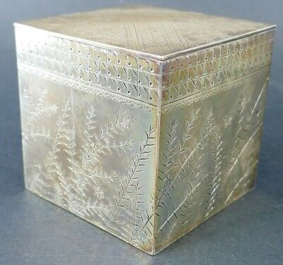 Old Antique Sterling Silver Hand Chased Engraved Box Scrap 333 grams