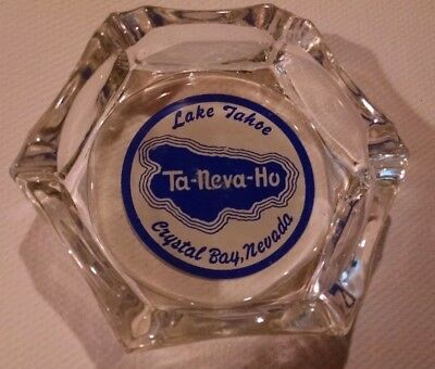 Lake Tahoe Ta Neva Ho Crystal Bay Nevada 6 sided 2 color acl ashtray