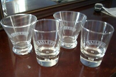 Four Etched Tapered Bailey's Rock Glasses