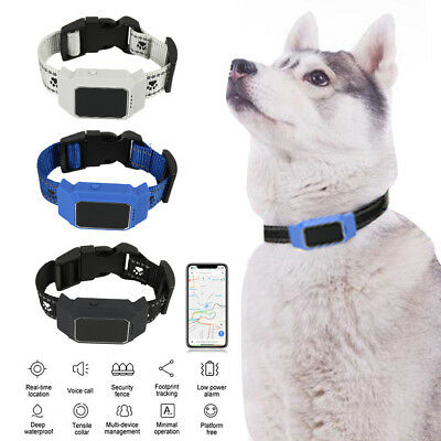 Pet GPS Collar Tracker Dog Cat Security Anti-Lost Real Time Locator Waterproof