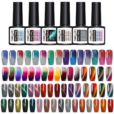 LEMOOC 8ml Thermal Gel Polish Magnetisch Chamäleon Soak Off UV LED Gel Nail Art