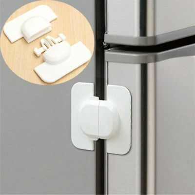 Adhesive Hot Toddler Kids Freezer Drawer Catch Cabinet Lock Fridge Door Safety
