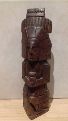 Unusual..carved Wooden Figure..totem Pole..?..wood..carved Wood