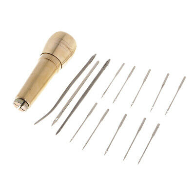 14x Leather Tent Canvas Sewing Awl Craft Stitcher Taper Leathercraft Needle