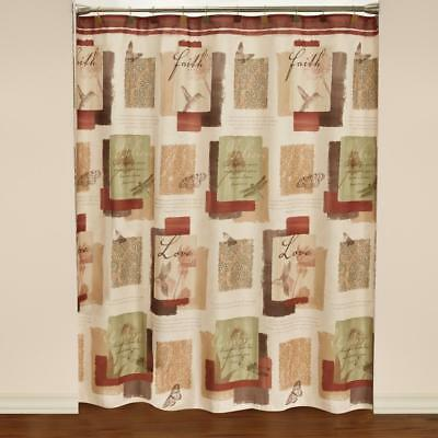72 Inch Multicolored Polyester Shower Curtain Bathroom Panel Tub Floral Decor