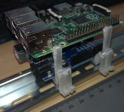 double customized DIN rail mount set (for Arduino Raspberry Pi Relais PCB Board)