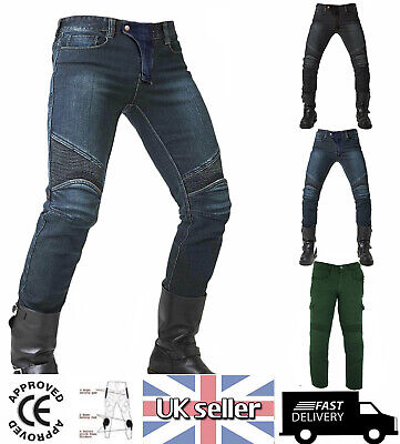 Mens Motorcycle Jeans Motorbike Pants Denim Trousers / Pants CE Armour