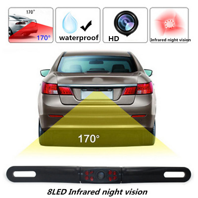 Vehicle Electronics & Gps Rear View Monitors/cams & Kits Waterproof Car License Plate Reverse Rear View Camera 8led Infrared Night Vision