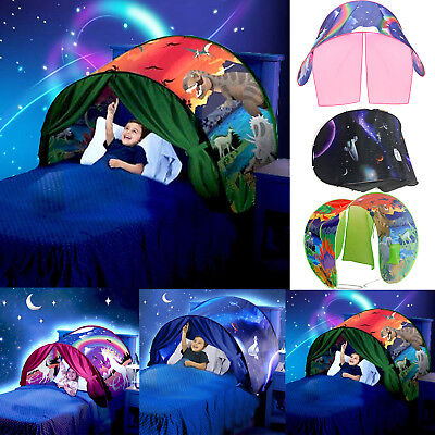 Dream Kids Bed Tent Unicorn Space Pop up Play Tent Magic Playhouse Indoor Play
