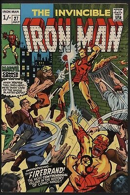 Iron Man #27 Vs Firebrand. Original Owner Collection With White Pages
