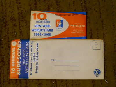 1964-1965 New York Worlds Fair Unopened Slide Collection 2 Envelopes