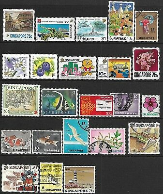 Singapore A Selection Of (23) Stamps