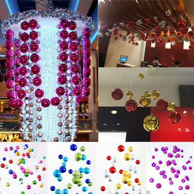 30mm Christmas Xmas Tree Ball Bauble Hanging Home Party Ornament Decor 7 Colors