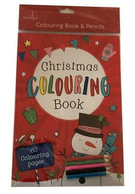 Christmas Premium Colouring Book with Colour Pencils - Stocking Gift