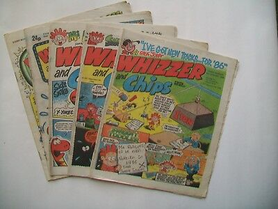 "comics ""Whizzer and Chips"" 5 issues 1986-7"