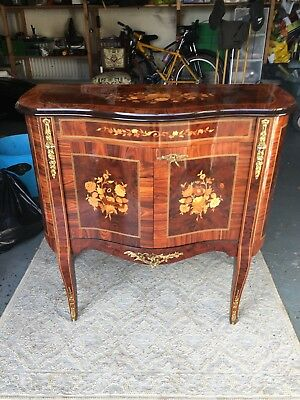 Stunning Italian inlayed marquetry locking cupboard