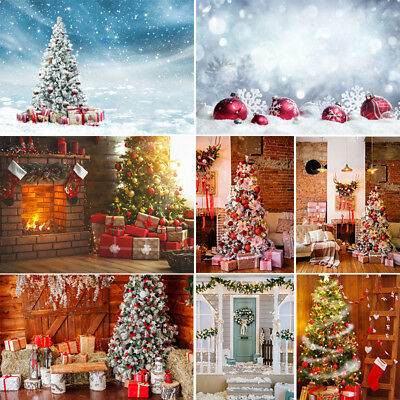 Merry Christmas Photography Backdrops Family Photo Shoot Props Xmas Background