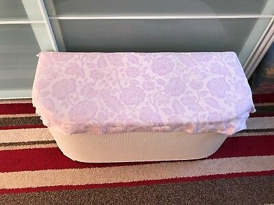 Vintage Ottoman - Ideal Restoration Project - Great Condition - White