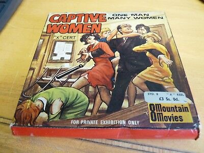 """8mm HOME MOVIES - MOUNTAIN MOVIES - CAPTIVE WOMEN - """"X"""" CERTIFICATE - 1960's"""
