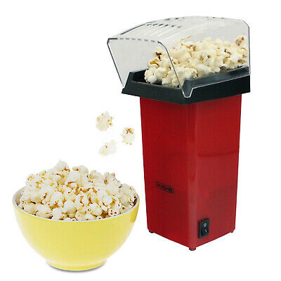 Red Electric Hot Air Popcorn Maker Pop Corn Making Machine